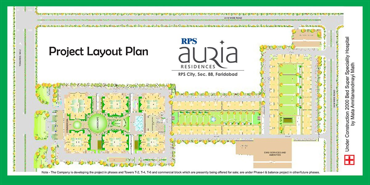 RPS Auria Residences Faridabad Project Layout Plan
