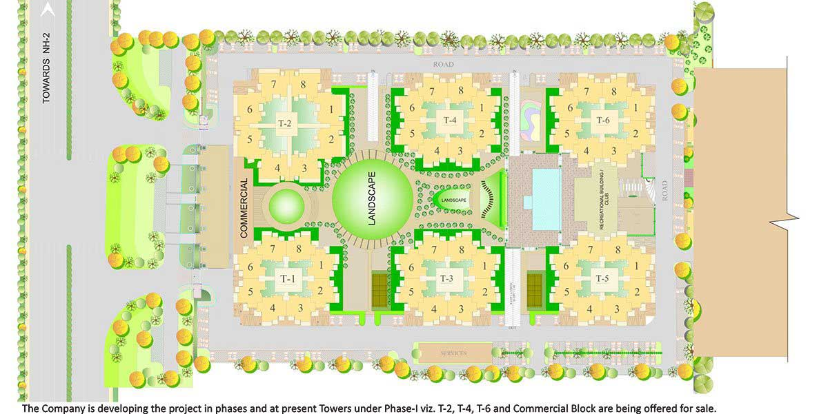 RPS Auria Residences Faridabad Site Plan